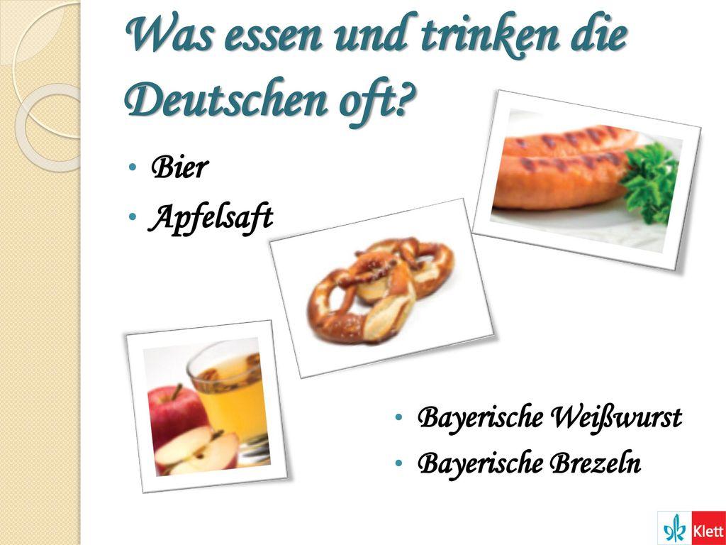 Was essen und trinken die Deutschen oft