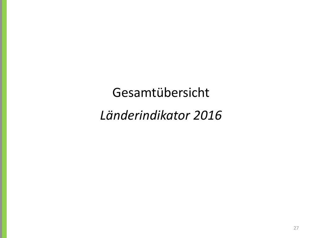 Gesamtübersicht Länderindikator 2016 27