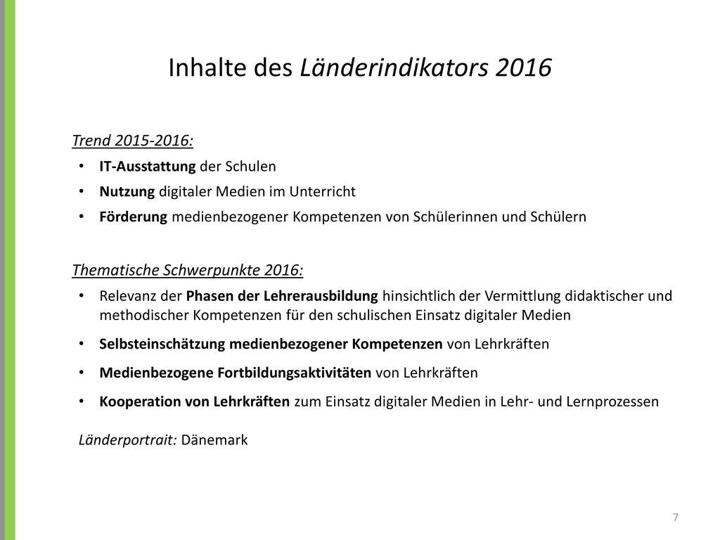 Inhalte des Länderindikators 2016