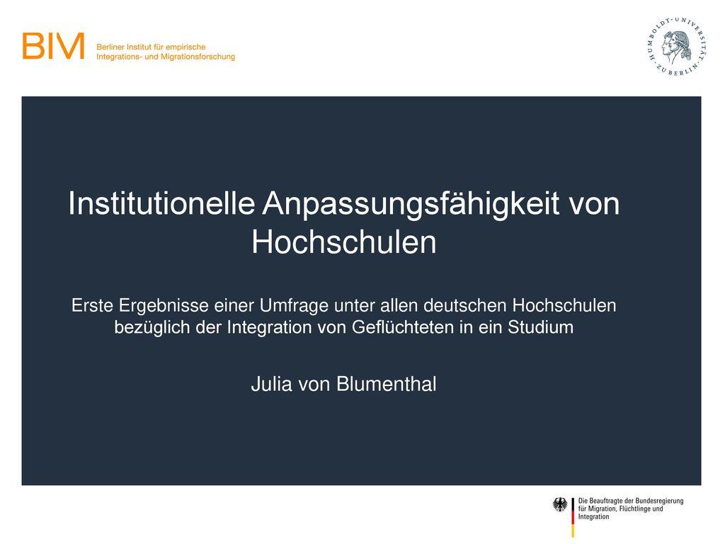 Institutionelle Anpassungsfähigkeit von Hochschulen