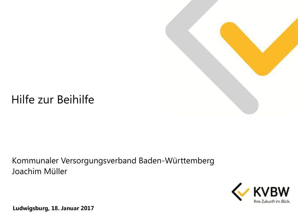 Hilfe zur Beihilfe Kommunaler Versorgungsverband Baden-Württemberg