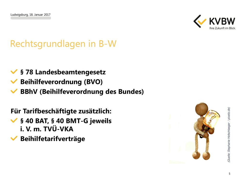 Rechtsgrundlagen in B-W