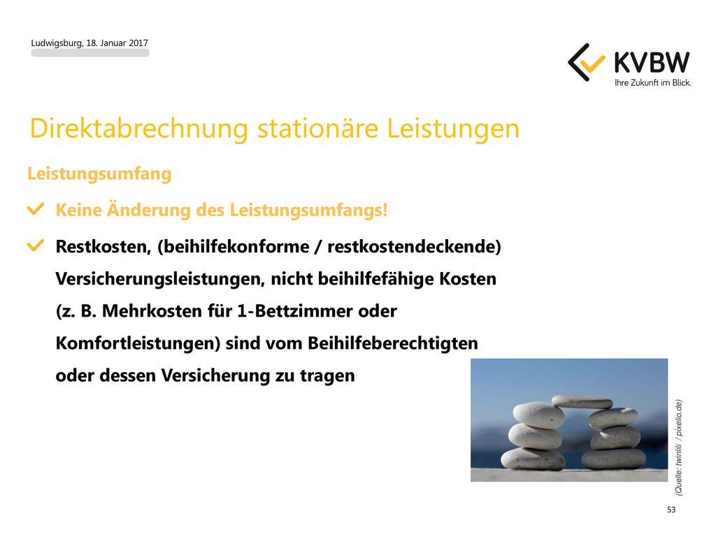 Direktabrechnung stationäre Leistungen