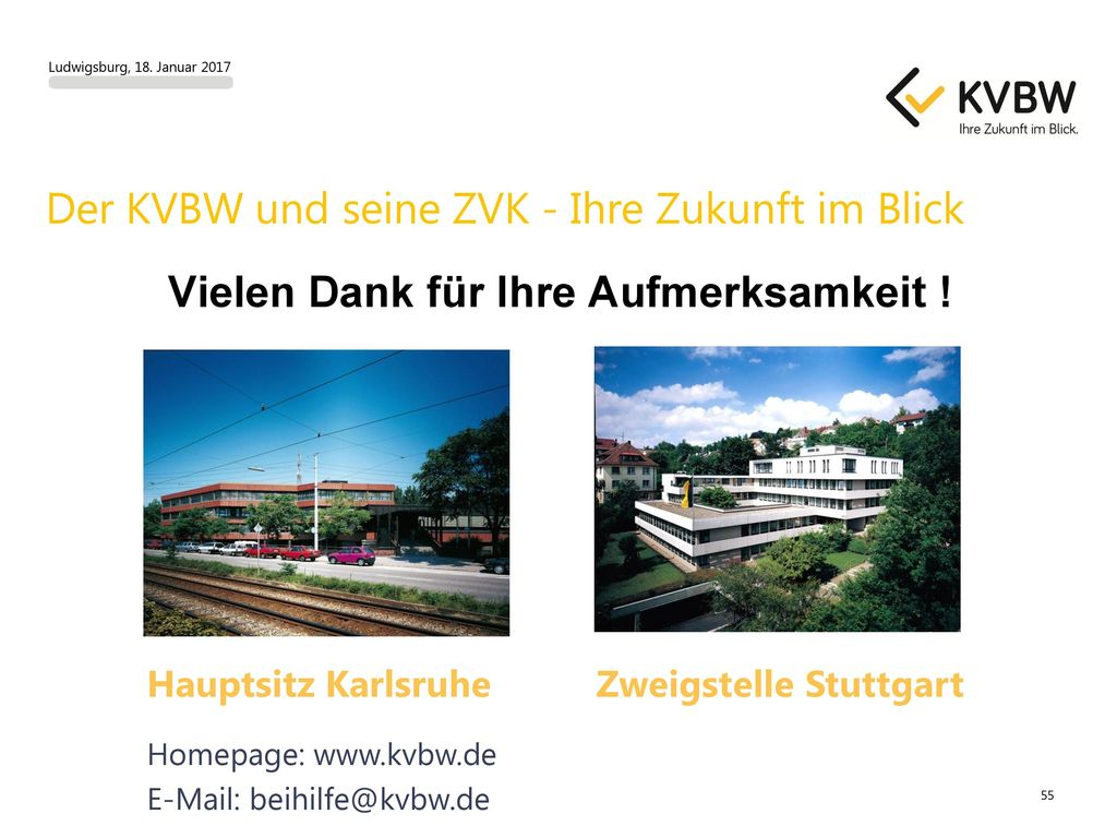 Der KVBW und seine ZVK - Ihre Zukunft im Blick