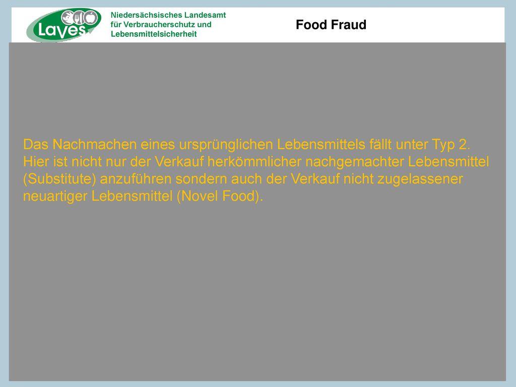 Das Nachmachen eines ursprünglichen Lebensmittels fällt unter Typ 2