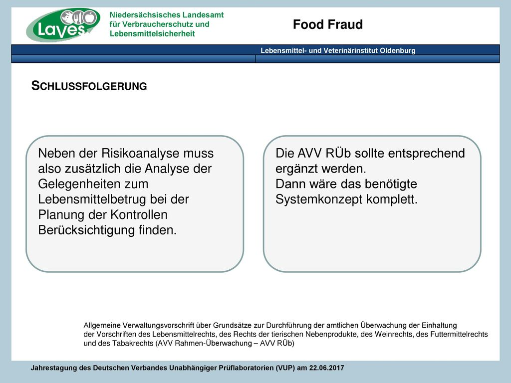 Die AVV RÜb sollte entsprechend ergänzt werden.