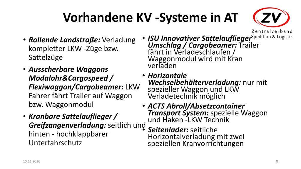 Vorhandene KV -Systeme in AT
