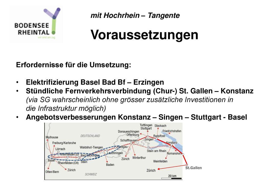 Voraussetzungen mit Hochrhein – Tangente