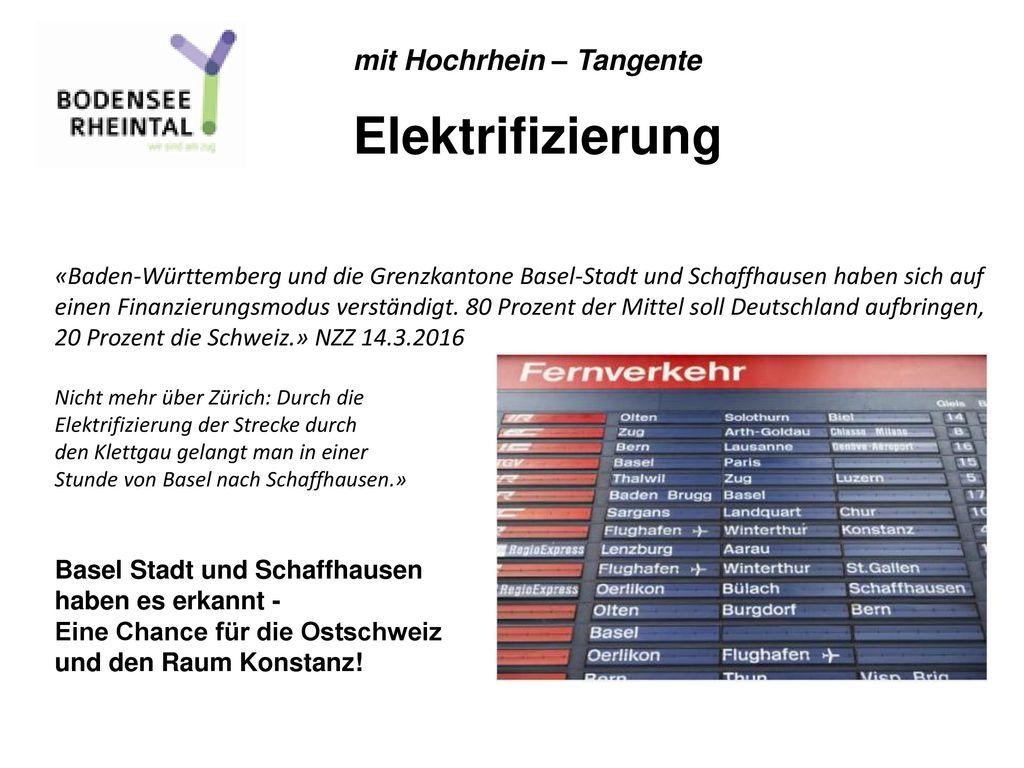 Elektrifizierung mit Hochrhein – Tangente
