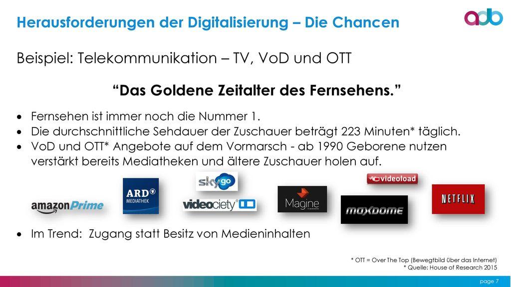 Das Goldene Zeitalter des Fernsehens.