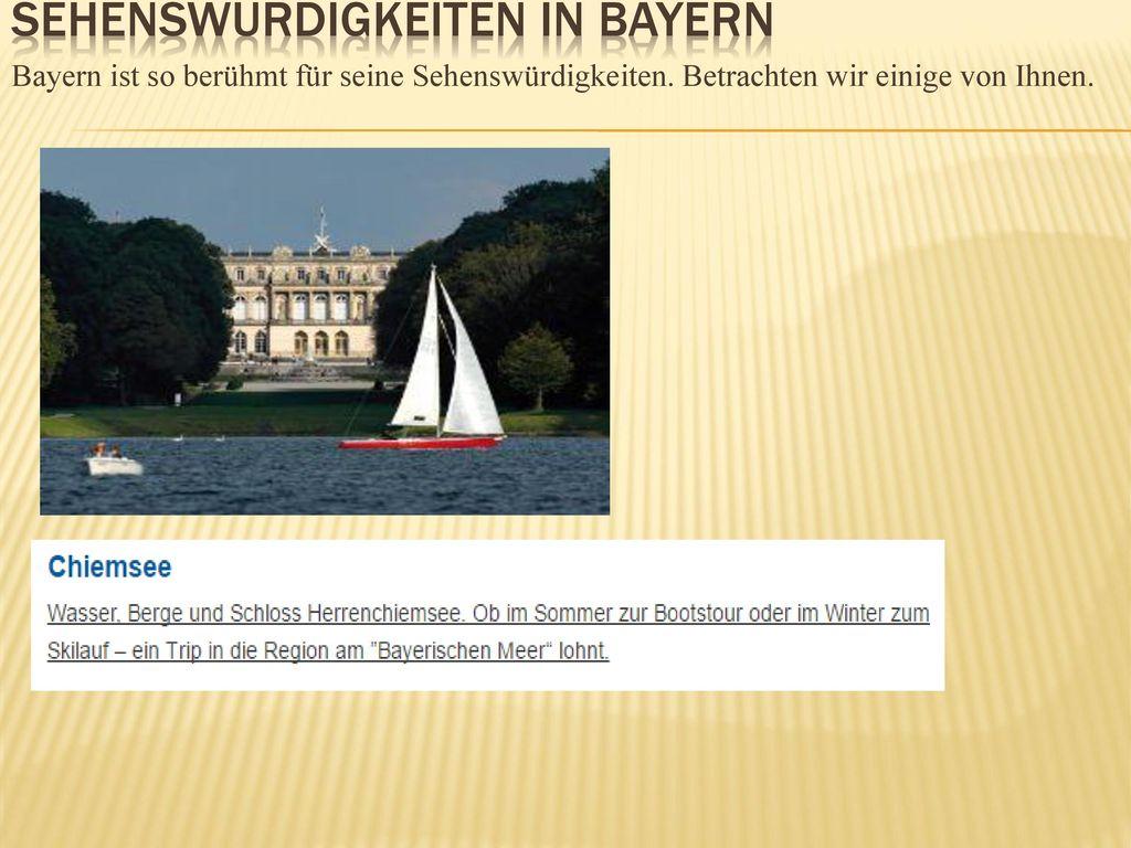 Sehenswürdigkeiten in Bayern