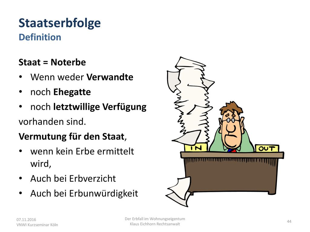 Staatserbfolge Definition