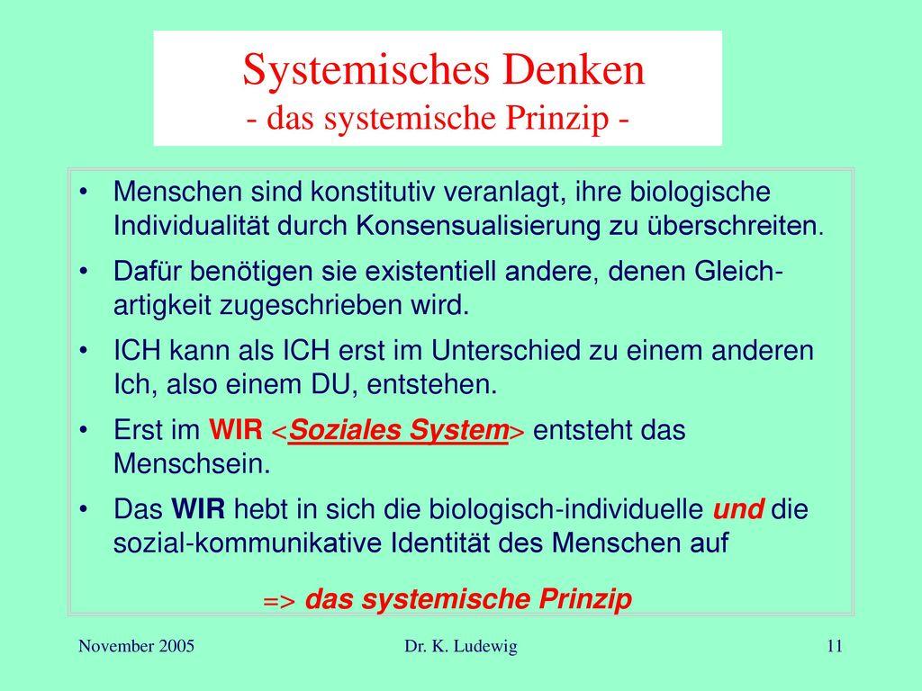 Systemisches Denken - das systemische Prinzip -