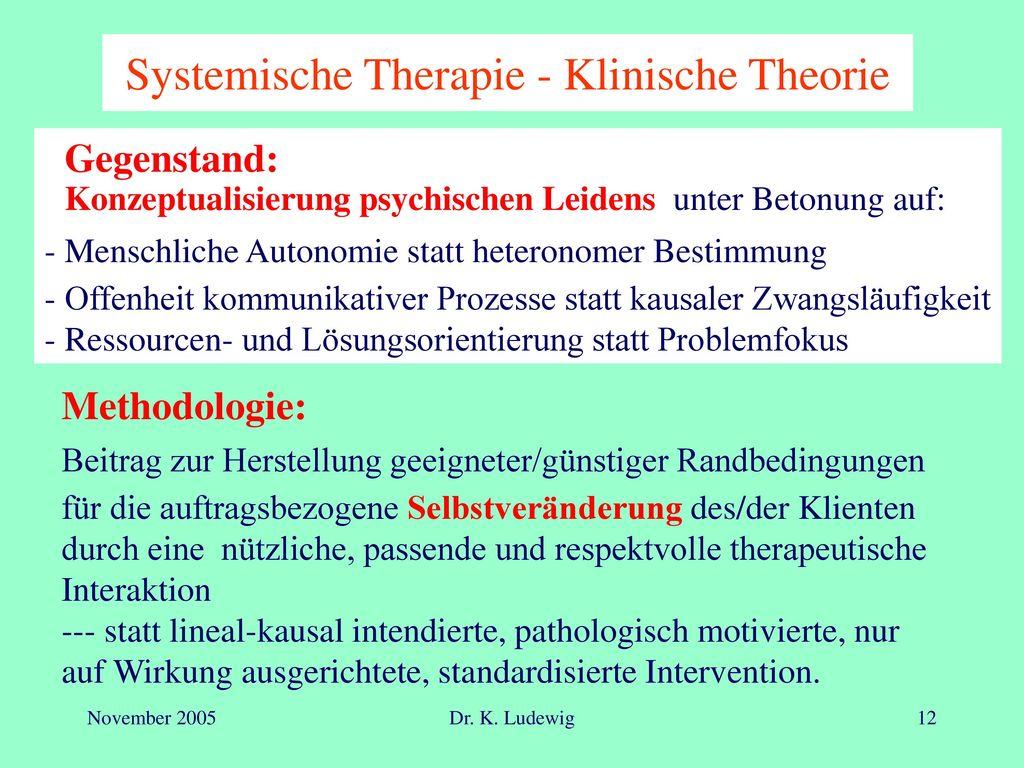 Systemische Therapie - Klinische Theorie