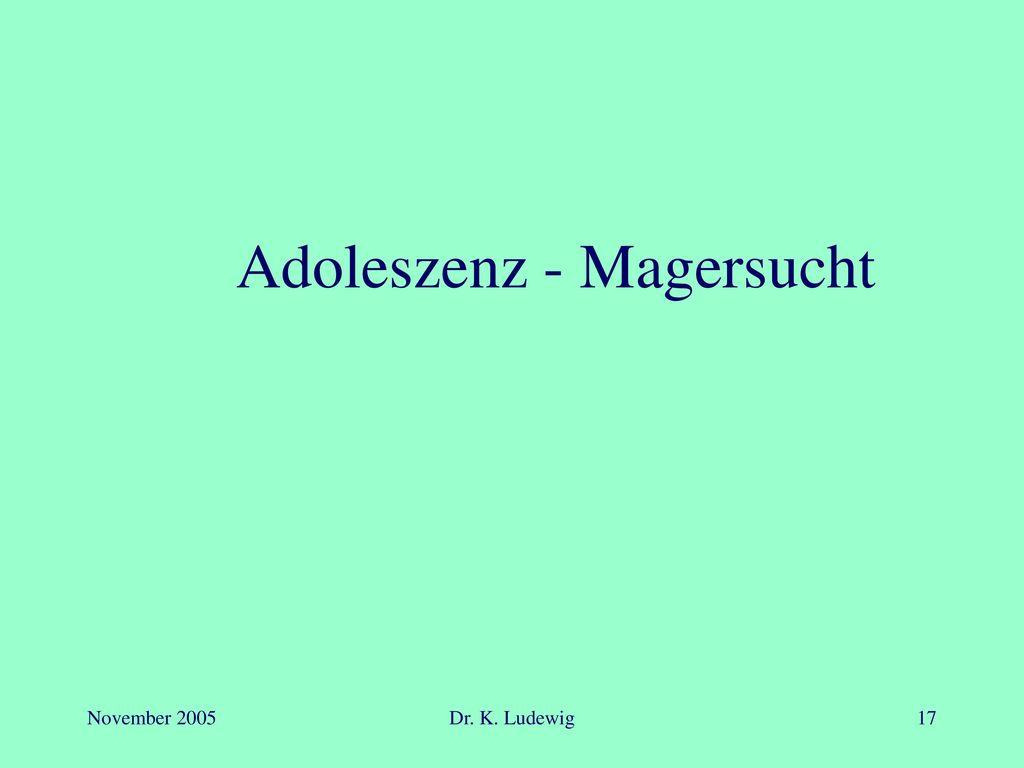 Adoleszenz - Magersucht