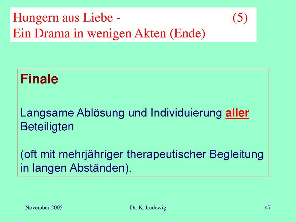 Hungern aus Liebe - (5) Ein Drama in wenigen Akten (Ende)