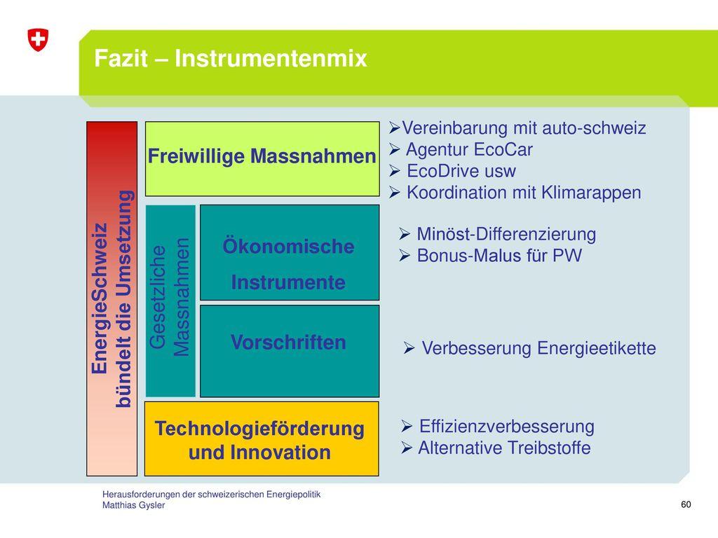 Fazit – Instrumentenmix