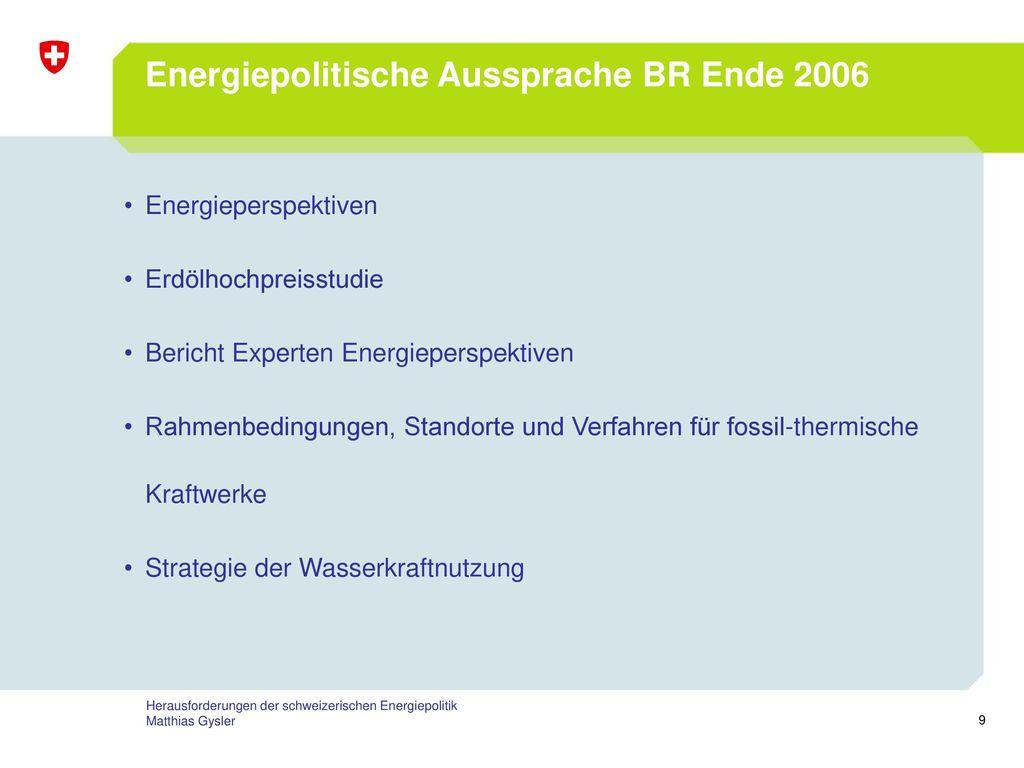 Energiepolitische Aussprache BR Ende 2006