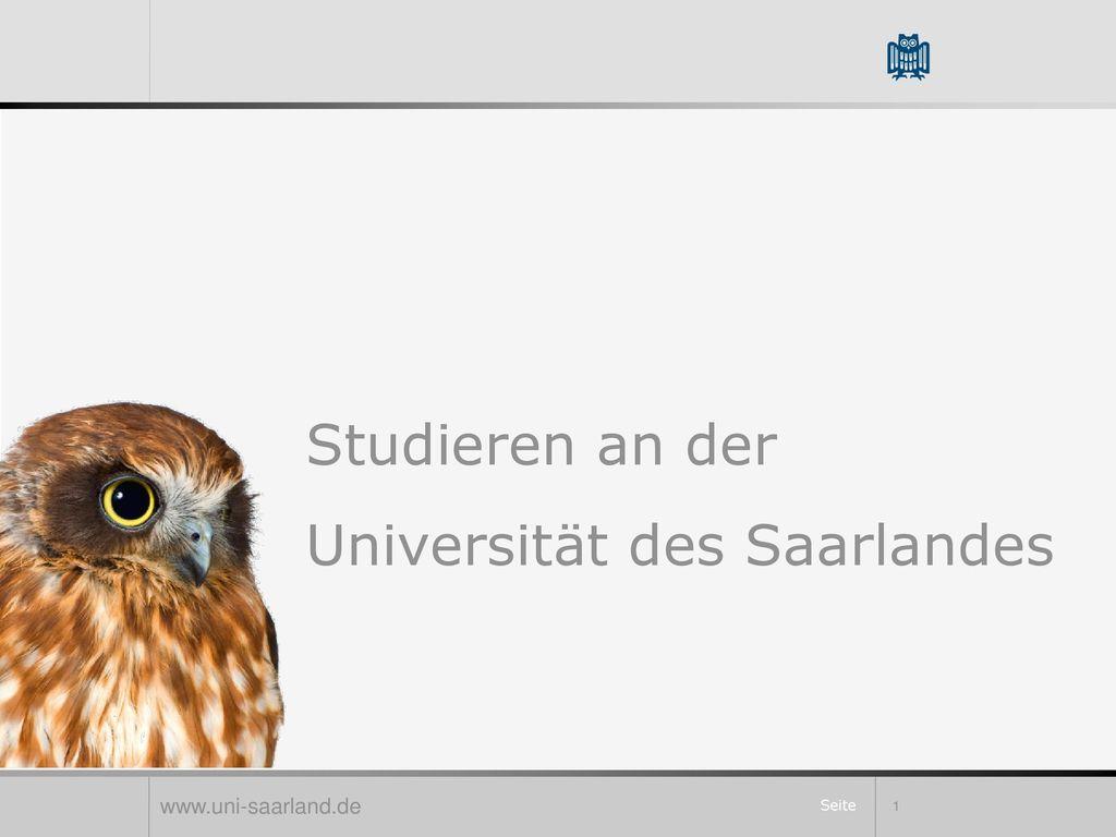 Studieren an der Universität des Saarlandes