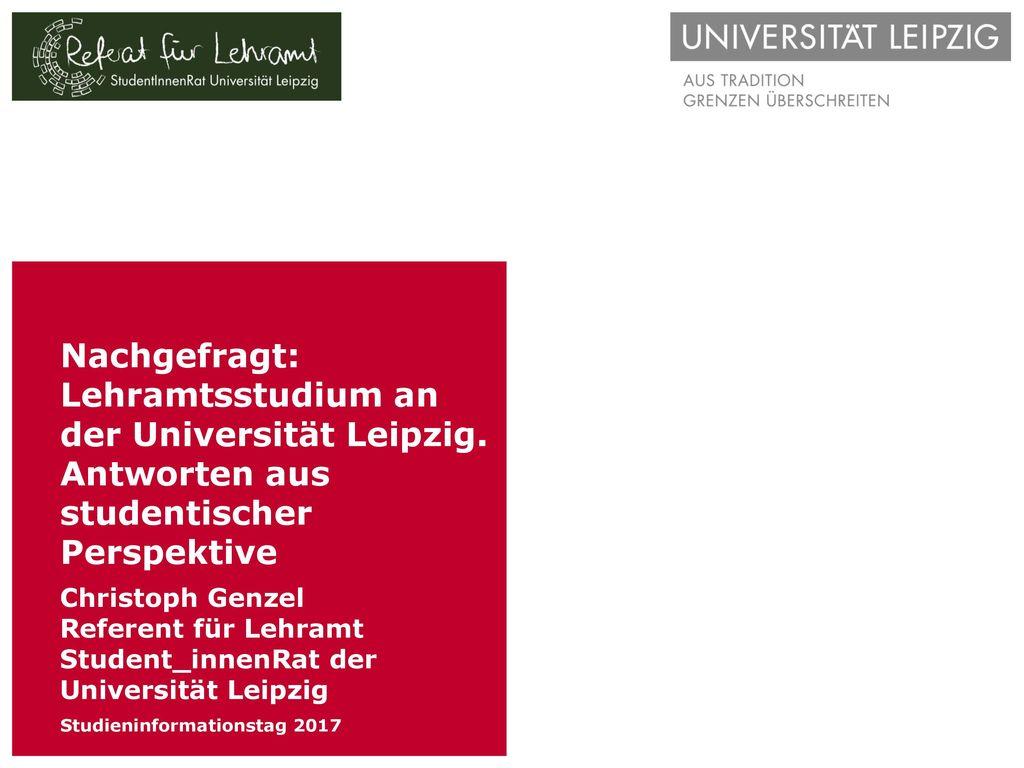 Nachgefragt: Lehramtsstudium an der Universität Leipzig