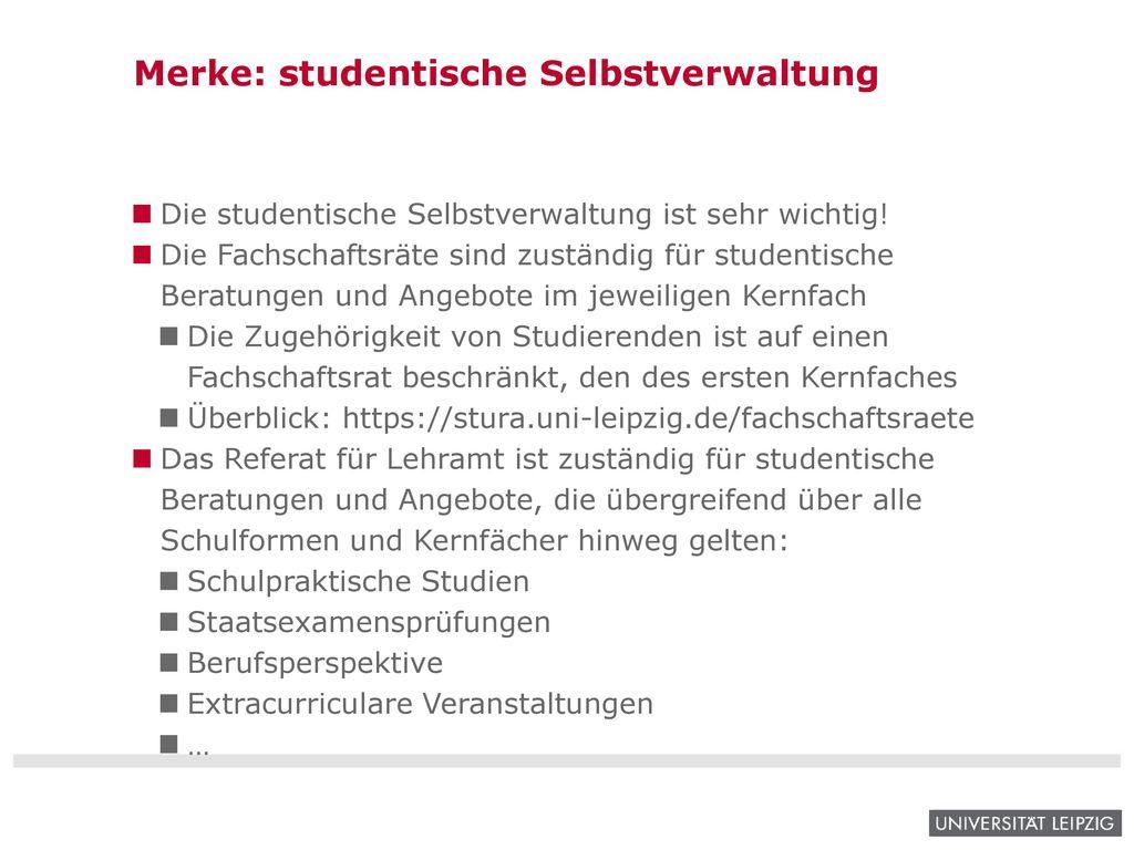Merke: studentische Selbstverwaltung