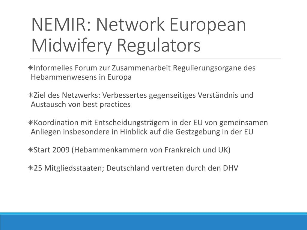 NEMIR: Network European Midwifery Regulators