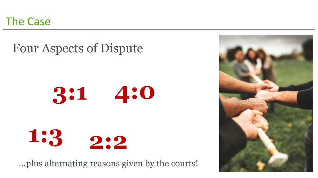 3:1 4:0 1:3 2:2 The Case Four Aspects of Dispute