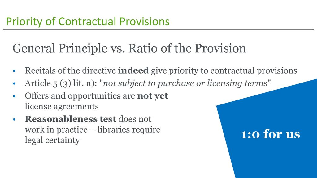 Priority of Contractual Provisions