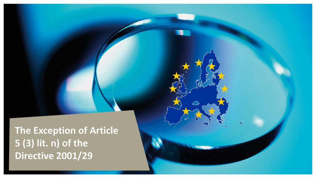 The Exception of Article 5 (3) lit. n) of the Directive 2001/29