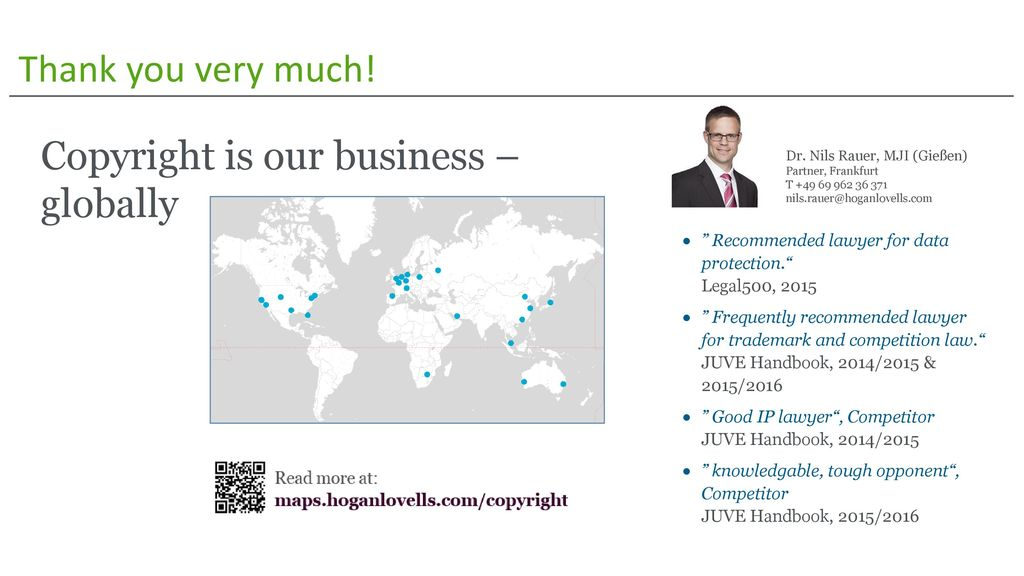 Copyright is our business – globally
