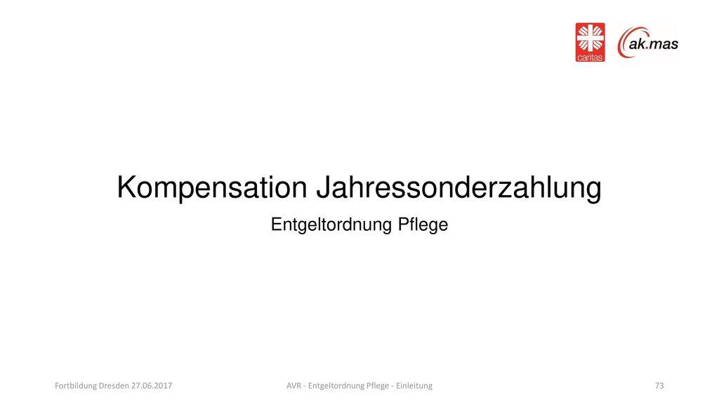 Kompensation Jahressonderzahlung