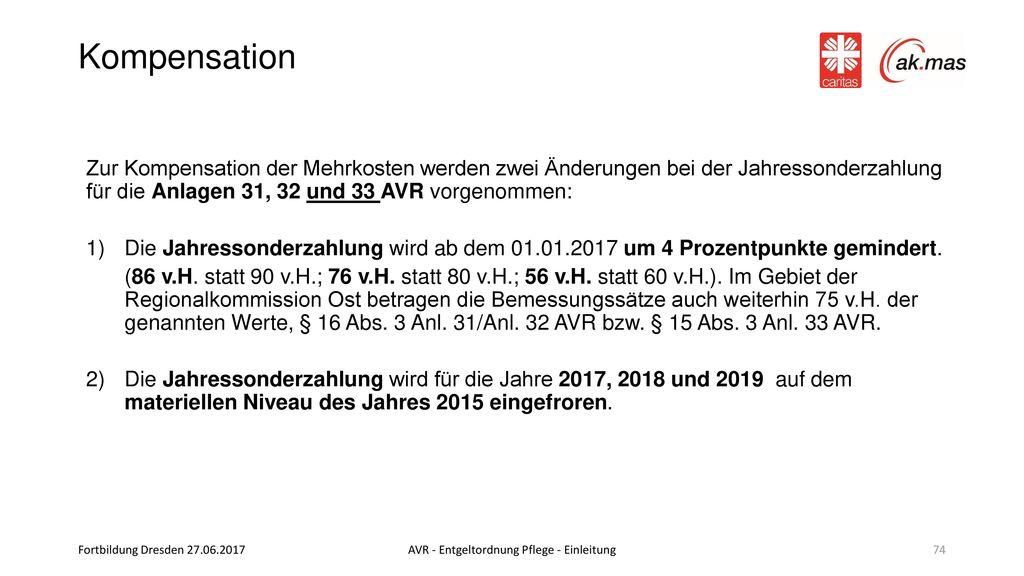 AVR - Entgeltordnung Pflege - Einleitung