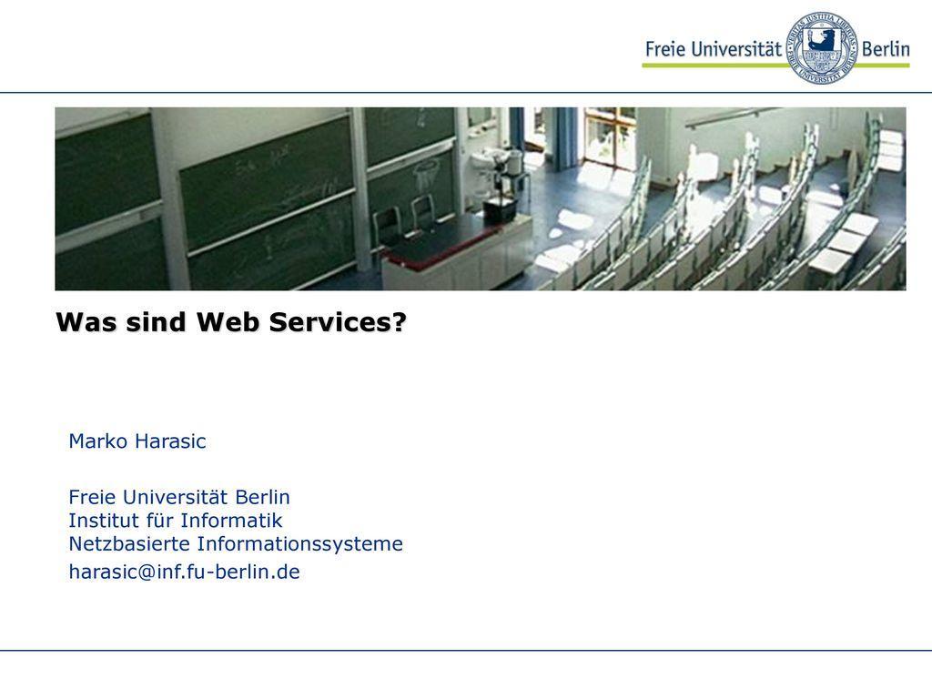Was sind Web Services Marko Harasic