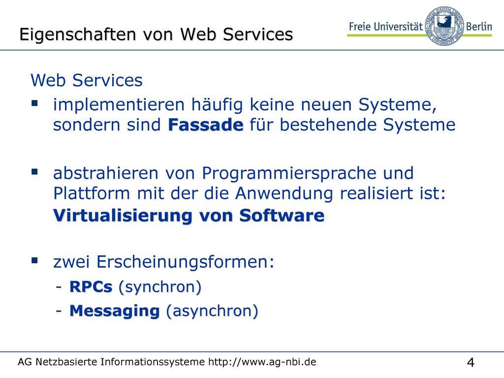 Eigenschaften von Web Services