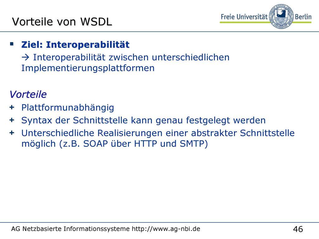 Eigenschaften von WSDL