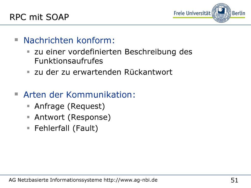 Wie SOAP-Nachrichten übertragen