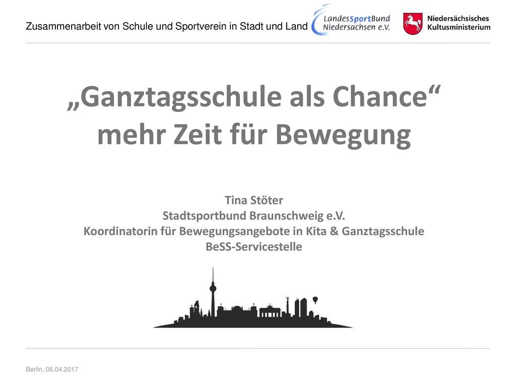 """""""Ganztagsschule als Chance mehr Zeit für Bewegung"""