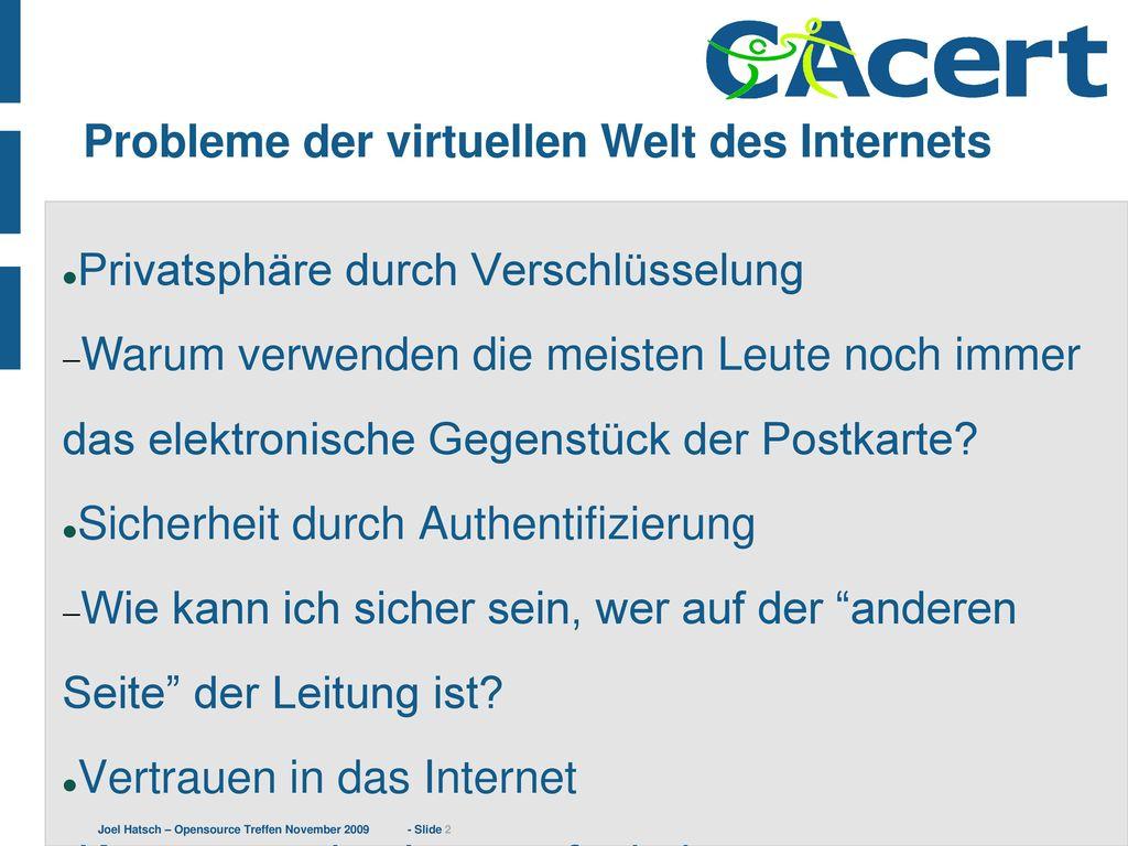 Probleme der virtuellen Welt des Internets