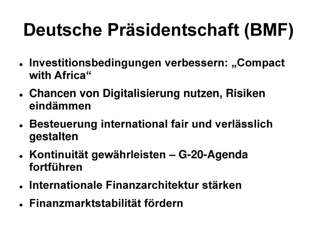 Deutsche Präsidentschaft (BMF)