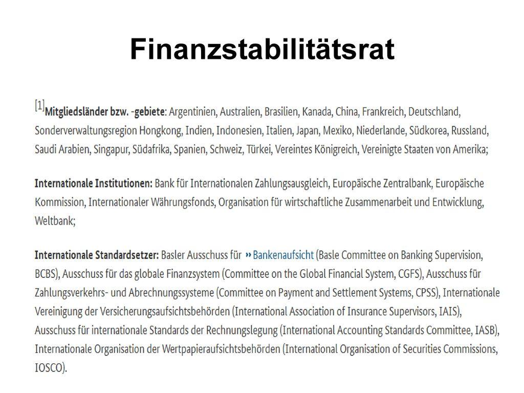 Finanzstabilitätsrat