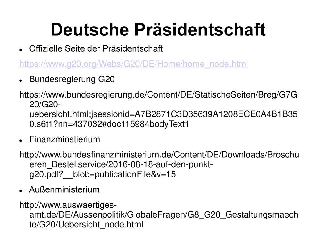 Deutsche Präsidentschaft