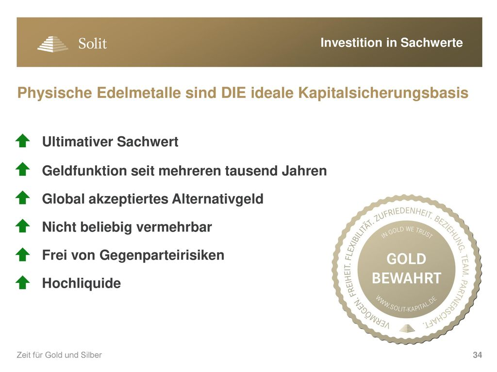Investition in Sachwerte