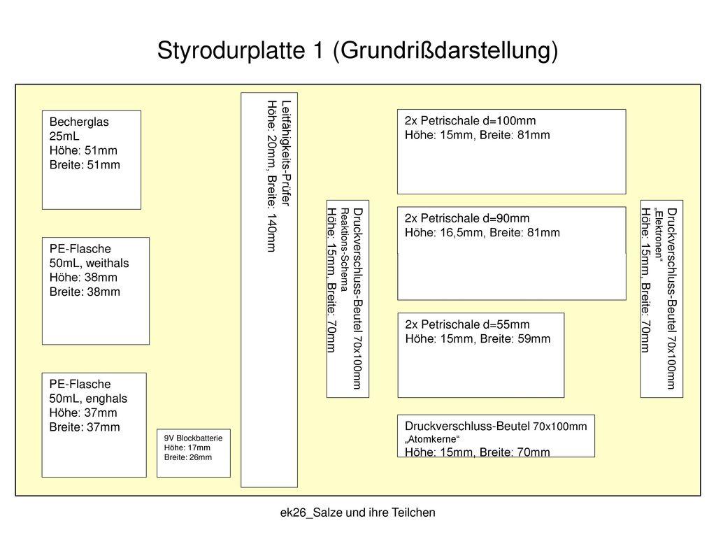Styrodurplatte 1 (Grundrißdarstellung)