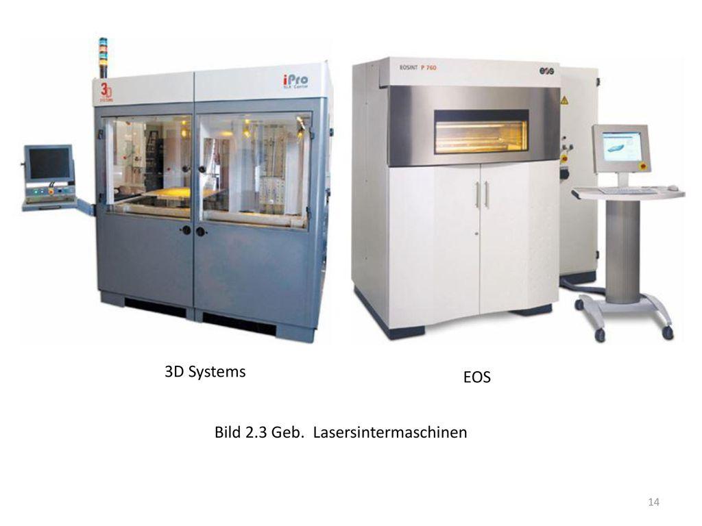 3D Systems EOS Bild 2.3 Geb. Lasersintermaschinen