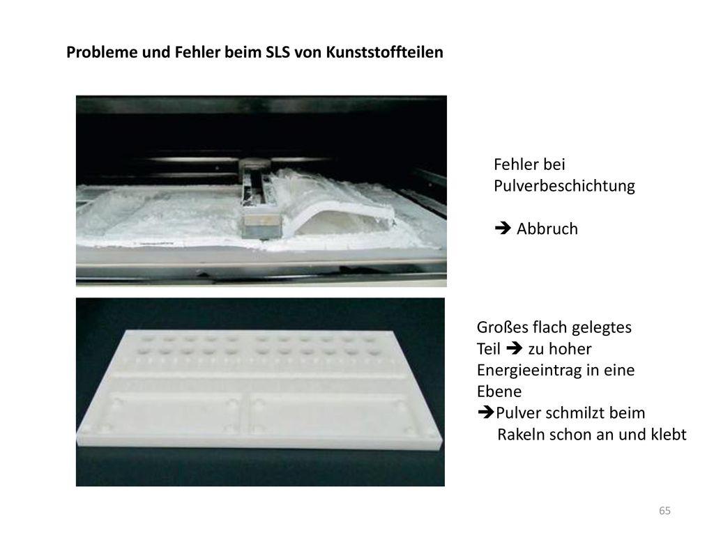 Probleme und Fehler beim SLS von Kunststoffteilen
