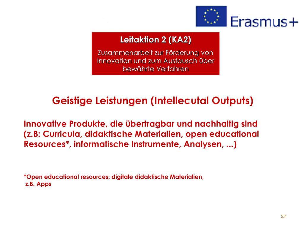 Geistige Leistungen (Intellecutal Outputs)