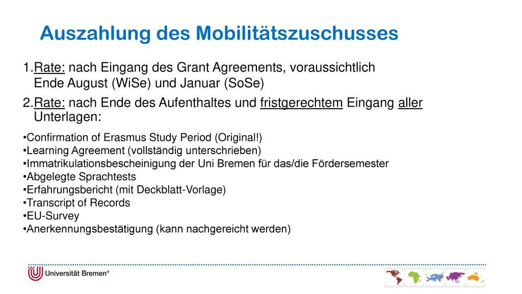 Auszahlung des Mobilitätszuschusses