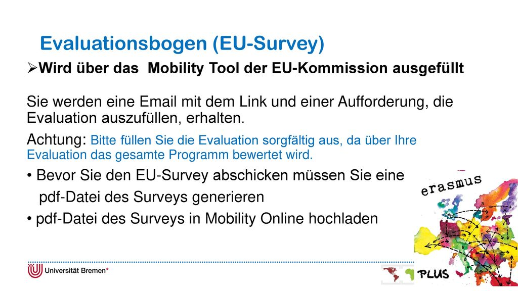 Evaluationsbogen (EU-Survey)