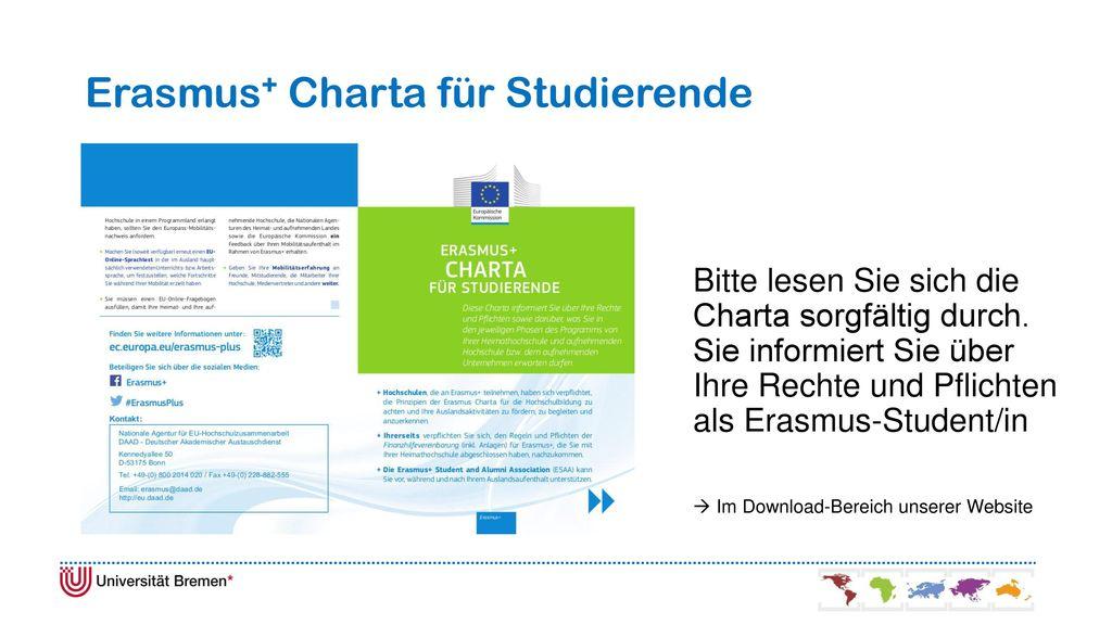 Erasmus+ Charta für Studierende