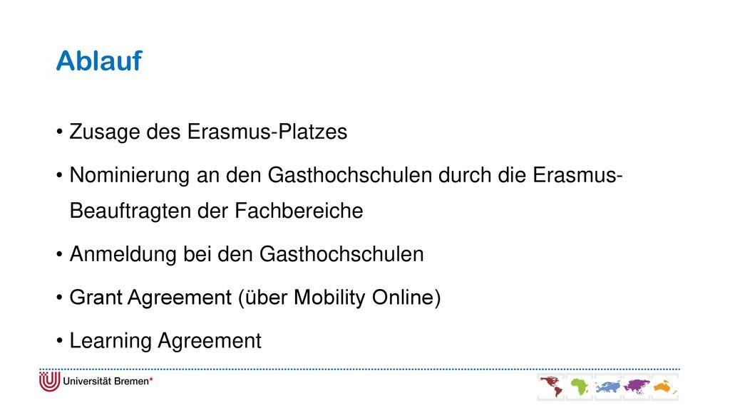 Ablauf Zusage des Erasmus-Platzes